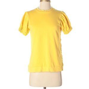 ASOS yellow, puff-sleeve sweatshirt - 2
